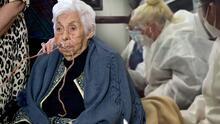 Doña Eva Mange ya se encuentra en casa de Laura Zapata donde es atendida por dos enfermeras