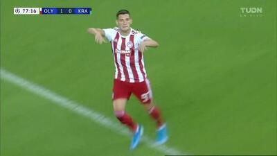 ¡GOOOL! Lazar Randjelovic anota para Olympiakos