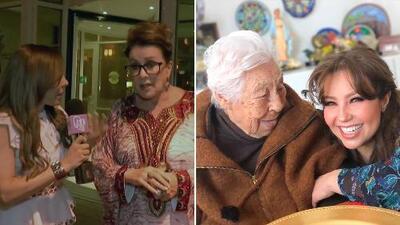 Laura Zapata le pide a Thalía que invite a su abuelita a casa ahora que tiene visa