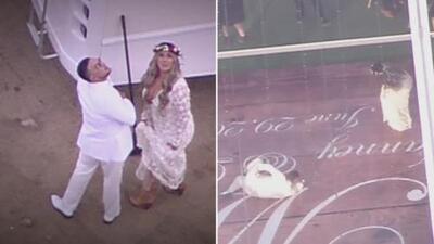 La boda de Chiquis y Lorenzo vista desde un helicóptero: El Gordo y La Flaca obtuvo imágenes de la celebración