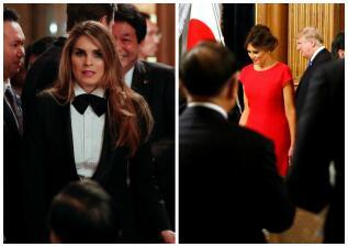 Asesora de Trump en esmoquin y famoso cantante coreano le roban la atención a Melania Trump en su viaje por Asia