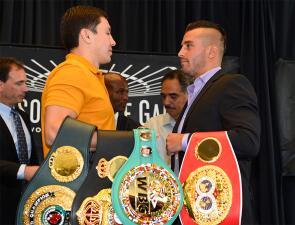 Gennady Golovkin y David Lemieux presentaron pelea