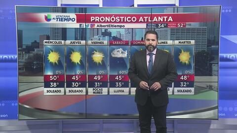 Cielos despejados y temperaturas frescas en Atlanta