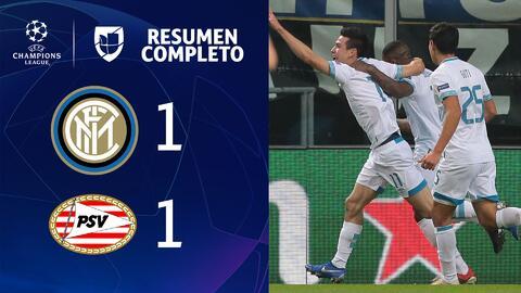 Inter 1-1 PSV - GOLES Y RESUMEN - Grupo B - UEFA Champions League