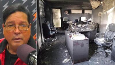 """""""Yo no sé si el FBI debe investigar lo que parece ser un acto de terrorismo"""": Ofrecen nuevos detalles sobre incendio en oficina de la Central General de Trabajadores"""