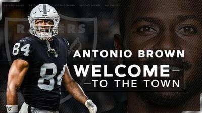 """Antonio Brown en su presentación con Oakland: """"Es un honor unirme a los legendarios Raiders"""""""