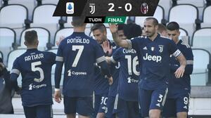 Juventus vence al Bologna y sigue tras el Milan, líder de la Serie A