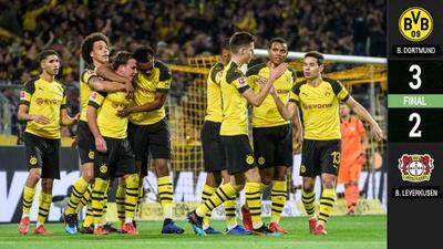 Borussia Dortmund venció a Bayer Leverkusen en un intenso duelo