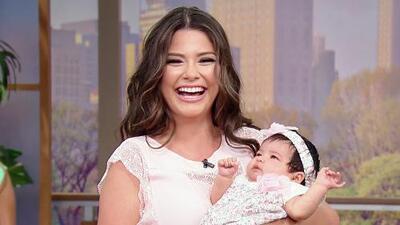 ¡Bienvenida a casa! Baby Giulietta llegó a Despierta América  en brazos de mamá