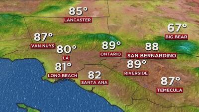 Cielos despejados y un día cálido, el pronóstico del tiempo para este miércoles en Los Ángeles