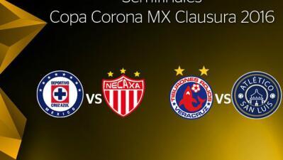 Listas las semifinales de la Copa MX