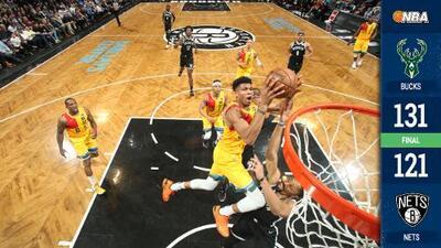 Antetokounmpo regresa espectacular para guiar a Bucks al triunfo sobre Nets