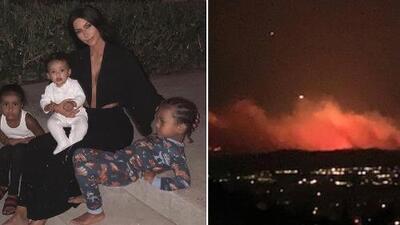 Kim Kardashian se ve obligada a evacuar su casa por un voraz incendio que amenaza la zona