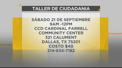 Contigo en la Comunidad: Clases de ciudadanía gratis en Dallas