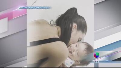 Lucía Viviana Ortiz con la pequeña Paulina