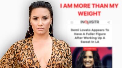 """""""Soy más que mi peso"""": el contundente mensaje con el que Demi Lovato respondió a quienes critican su cuerpo"""