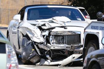Fotos del aparatoso accidente automovilístico de Kris Jenner