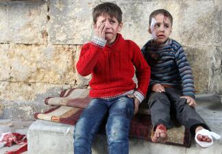 Las fotos que muestran la tragedia de los niños de Alepo