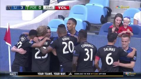 Y en menos de nada, hay goleada en San Jose, gracias al argentino Cristian Espinoza