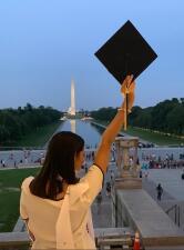 Luisa Sotero obtiene maestría Comunicación Política y Gobernanza de la Universidad de George Washington