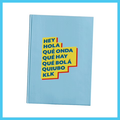 Hey, Hola Hardcover Journal $12.00