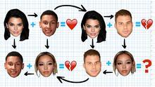 Los 'exes' de Kendall Jenner y su nuevo amor estuvieron de fiesta y ahora todo es un enredo