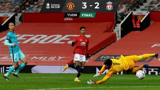 En el duelo estelar de la FA Cup, el United eliminó al Liverpool