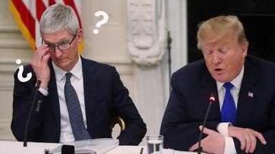 """Trump llama """"Tim Apple"""" a Tim Cook y esta no es la primera vez que tiene problemas con los nombres"""