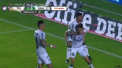 ¡Cayó el empate de Santos, con un bombazo de Furch!