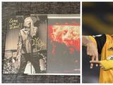 Raúl Jiménez recibe disco autografiado del músico Robert Plant