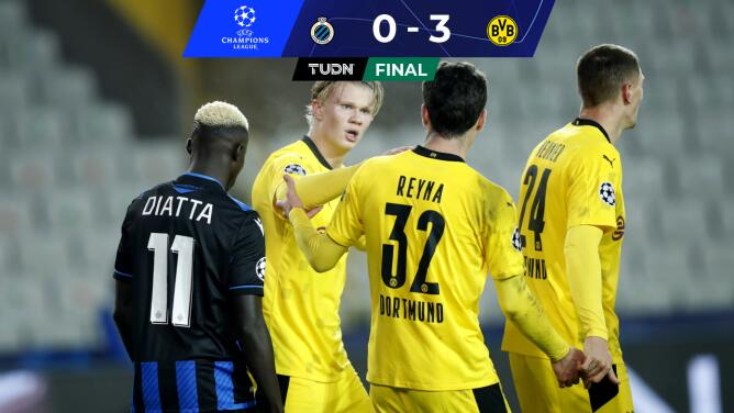 Goleada del Borussia Dortmund con doblete de Haaland