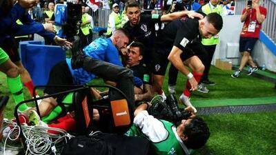 Un salvadoreño fue el invitado involuntario al festejo del gol de Croacia