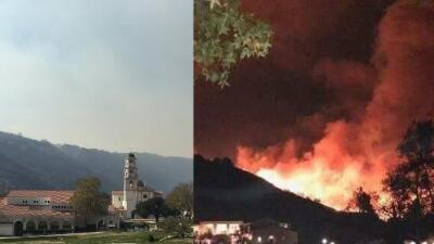 """El fuego perdonó a esta universidad católica en California y lo atribuyen a """"un milagro"""""""