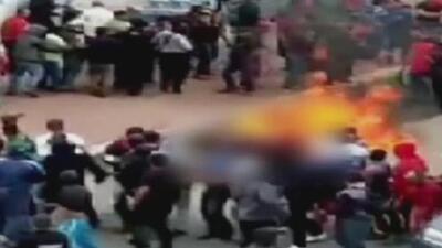 Un hombre fue quemado vivo por presuntamente robar un celular en México