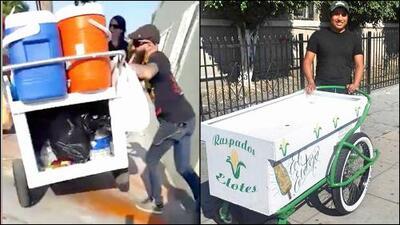 El elotero agredido por un transeúnte recibe un nuevo carrito para sus ventas