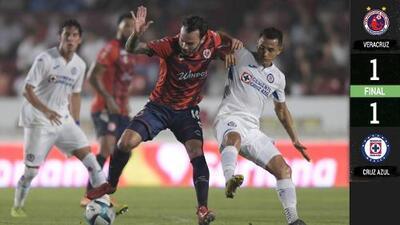 ¡Sufrió la Máquina! Cruz Azul rescata empate ante Veracruz con un autogol