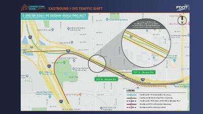 A partir del martes cambia sentido del tráfico en autopista de Miami