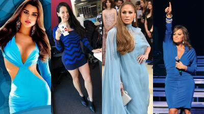 EN FOTOS: Famosas que derraman belleza vestidas de azul