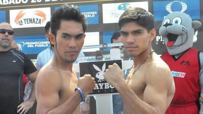 Pedro Guevara y Jether Oliva en peso
