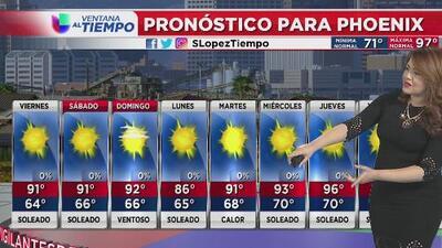 Se espera mejora en las condiciones al norte de Arizona, clima cálido y tranquilo en Phoenix