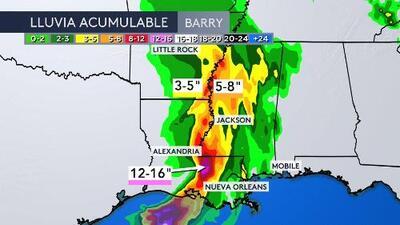 Barry tocó tierra en las costas de Louisiana: ¿qué se puede esperar para las próximas horas?