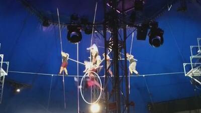 En video: La aterradora caída de los funambulistas de un circo durante un ensayo