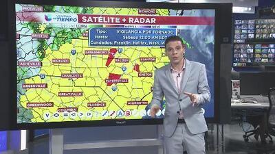 Vigilancia de tornados en Franklin, Halifax, Nash y Warren