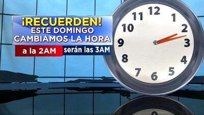 Ventana al Tiempo: Chubascos en Miami y cambio de hora