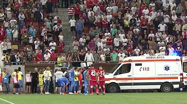 DT de equipo en Rumania se desmaya en pleno partido y es trasladado de urgencia al hospital
