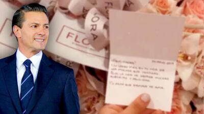 Enrique Peña Nieto manda flores y un emotivo mensaje de amor a su hija por su graduación