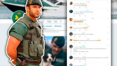 De guardia civil a modelo: la vida le cambió a Jorge Pérez Díez con un tuit