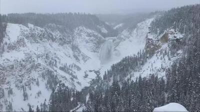Completamente congelado: así luce el Parque Nacional Yellowstone en Wyoming