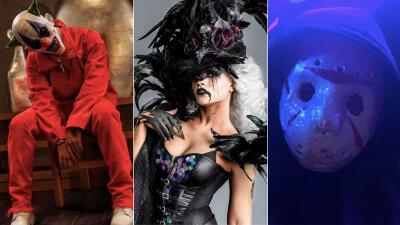 EN FOTOS: Descubre a los famosos que se esconden detrás de los disfraces más espeluznantes de este Halloween