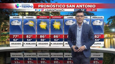 Miércoles tormentoso en San Antonio y sus alrededores